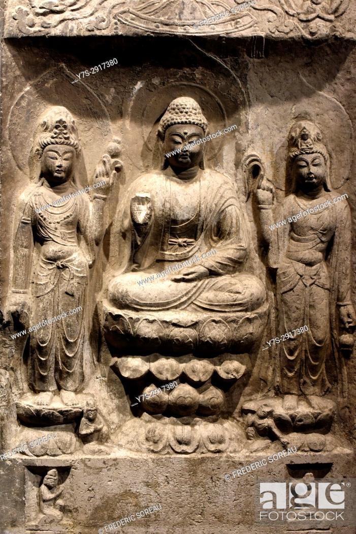 Imagen: Buddha relief in National museum, Tokyo, Japan,Asia.
