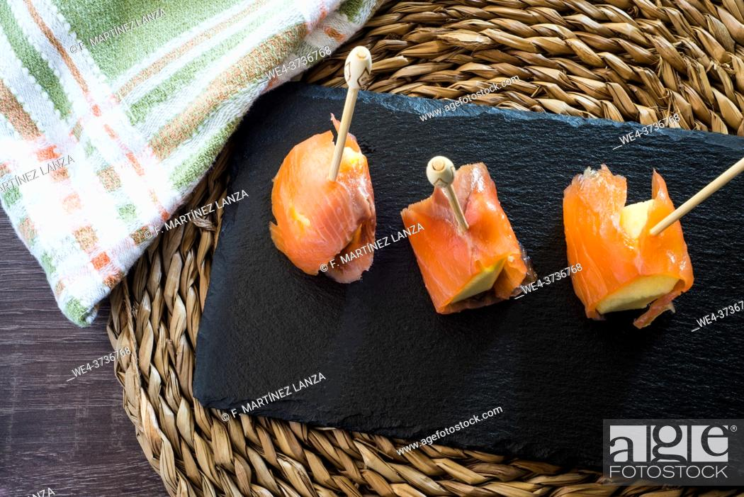 Imagen: Smoked salmon with melon.