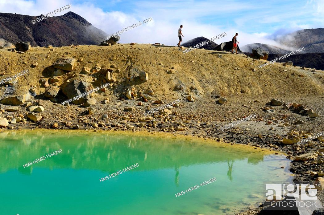 Stock Photo: New Zealand, North island, Tongariro National Park listed as World Heritage by UNESCO, is the first national park in New Zealand and the fourth to emerge.