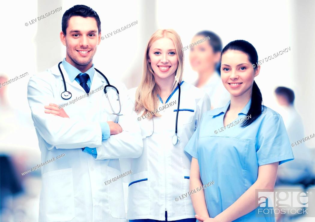 Stock Photo: healthcare and medical - young team or group of doctors.
