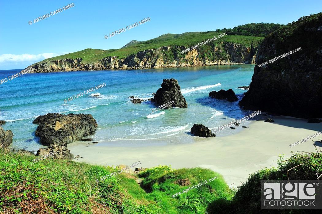 Stock Photo: The beach of Beo. Malpica de Bergantiños, La Coruña, Spain.