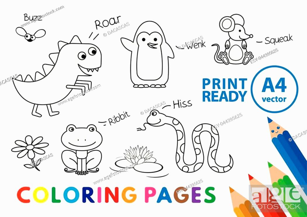 Color Book Printing   Animal Coloring Pages   Kids Coloring Pages ...   699x990