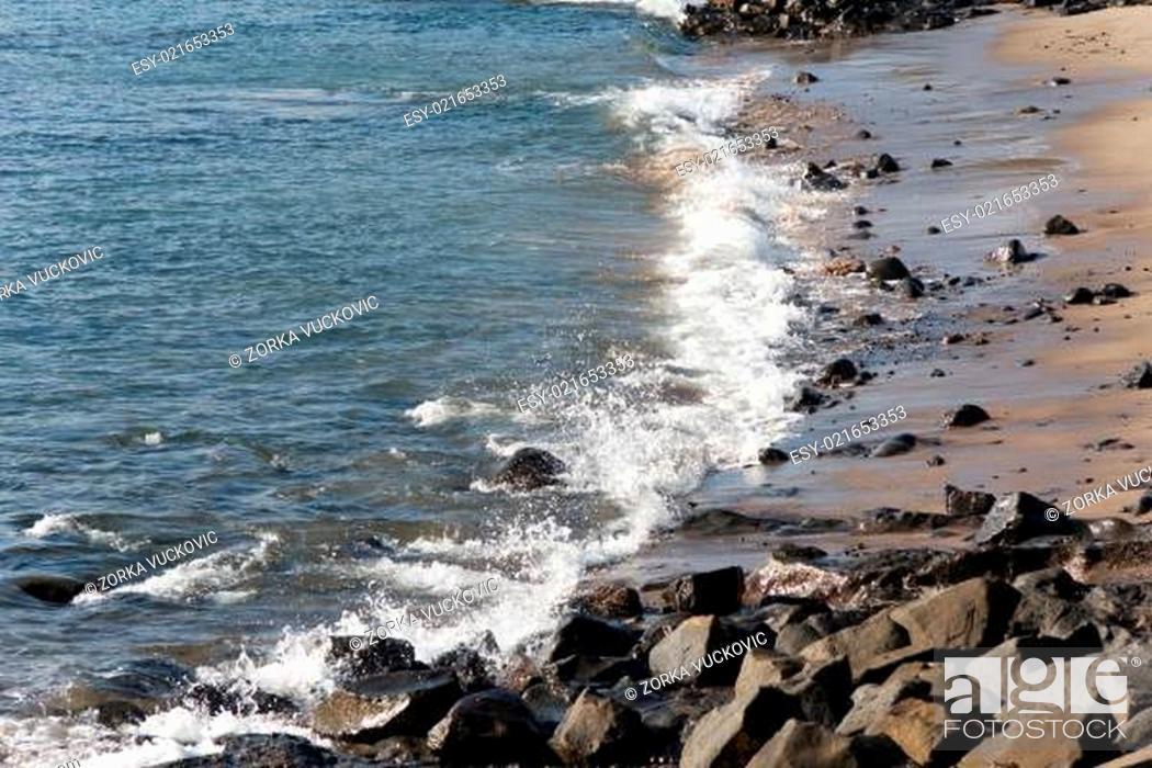 Stock Photo: Playa Papagayo,Lanzarote,Spain.