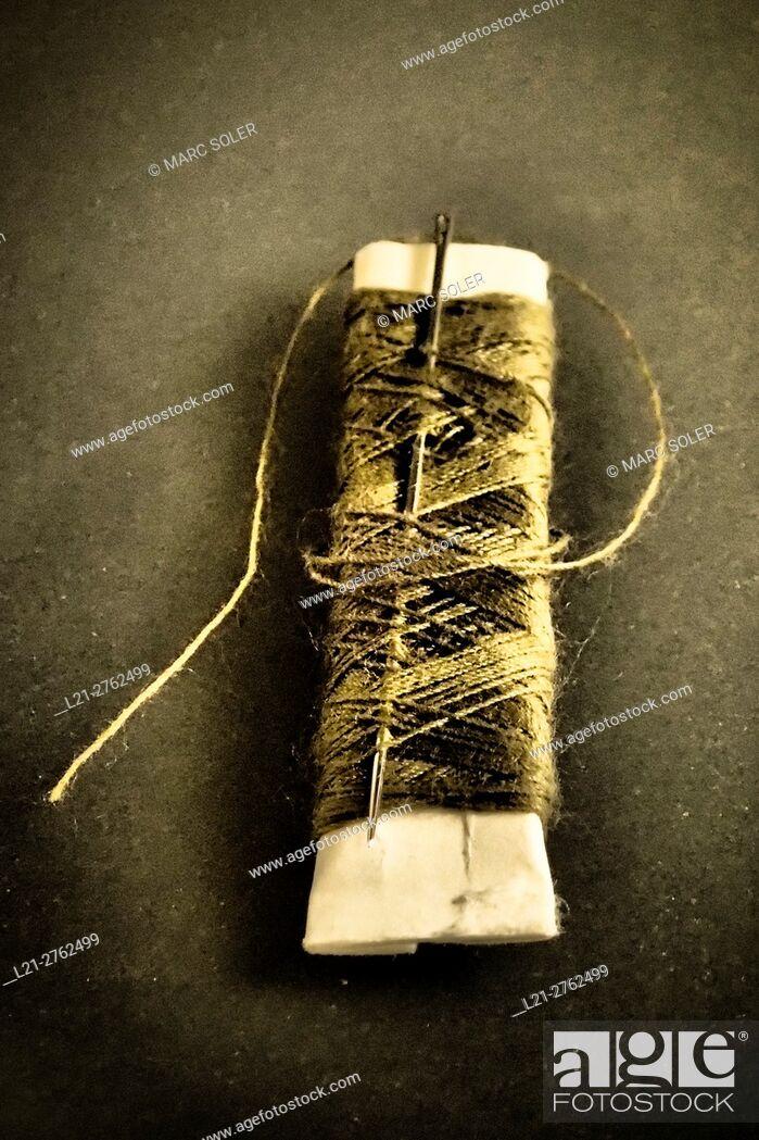 Stock Photo: Needle and thread.