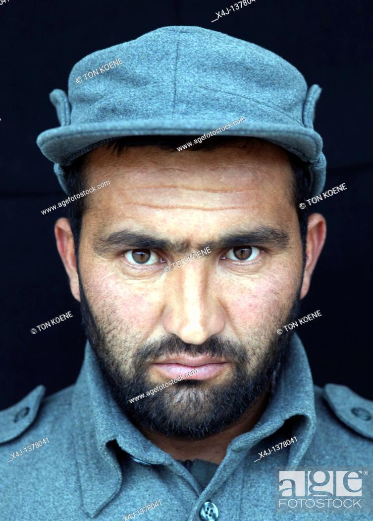 Stock Photo: Afghan recruits in German training centre, Kunduz.