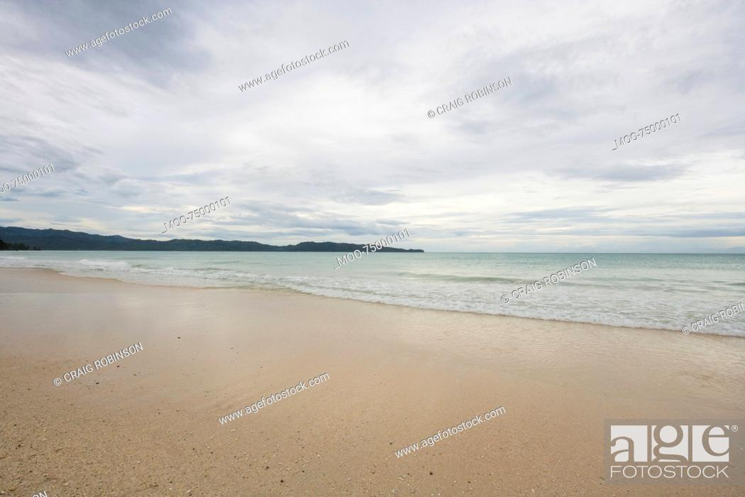 Stock Photo: Beach in Boracay, Philippines.