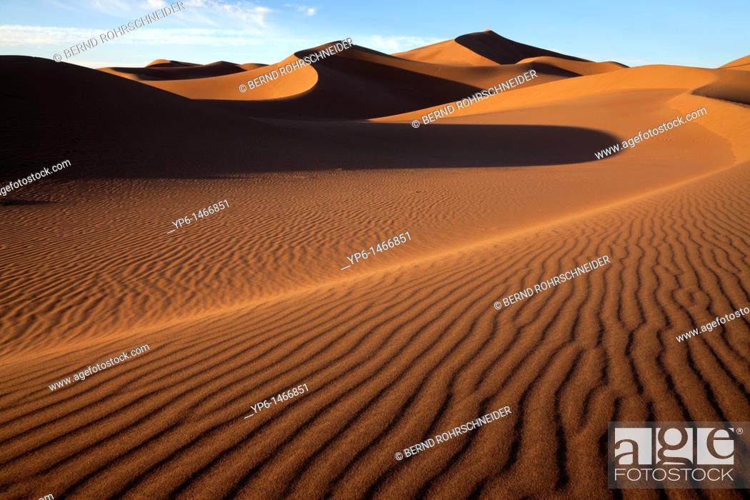Stock Photo: sand-dunes, Erg Chegaga, Sahara, Morocco.