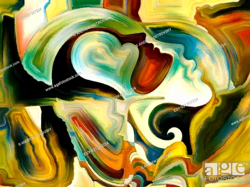Stock Photo: Metaphorical Inner Paint.