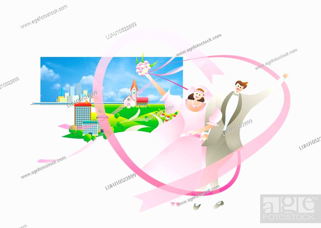 Stock Photo: Bride And Groom.