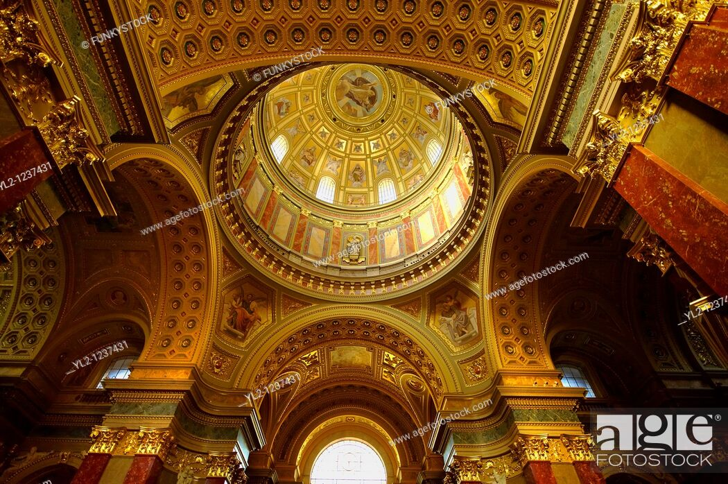 Stock Photo: Interior of St Stephen's Basilica,  Szent Istvan Bazilika  , Neo Classical building, Budapest, Hungary.