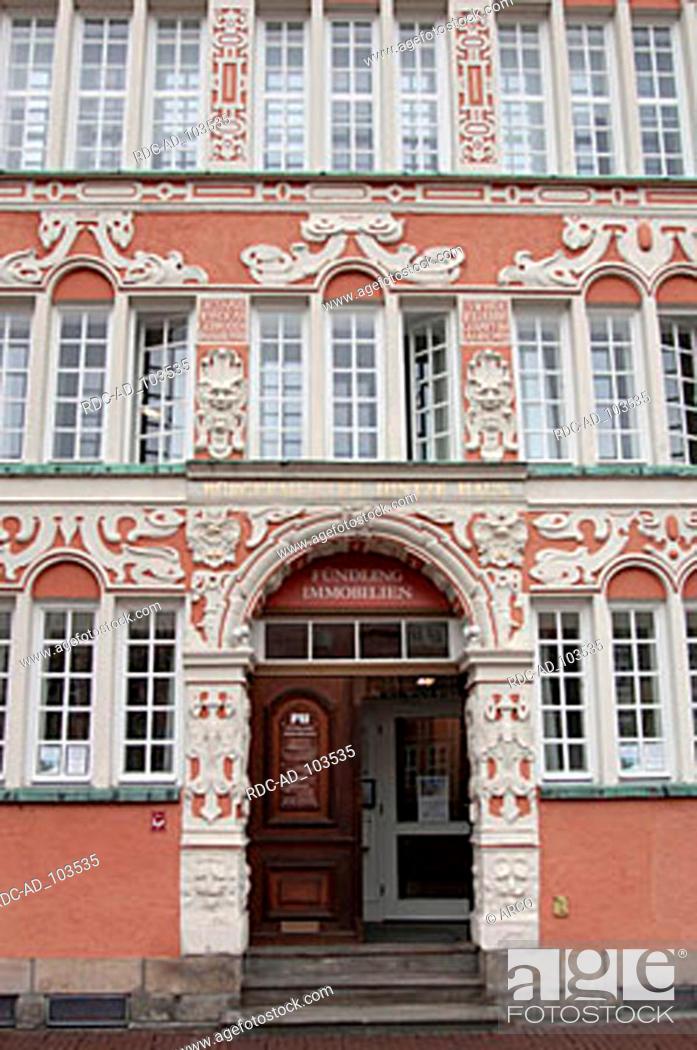 Stock Photo: Entrance of Mayor Hintze house Stade Lower Saxony Germany.