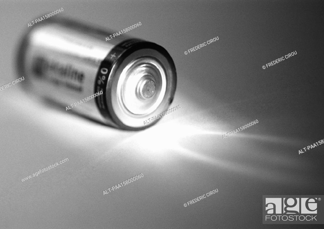 Imagen: Battery, b&w.
