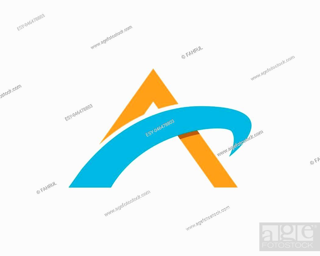 Stock Vector: A letter logo design vector template.