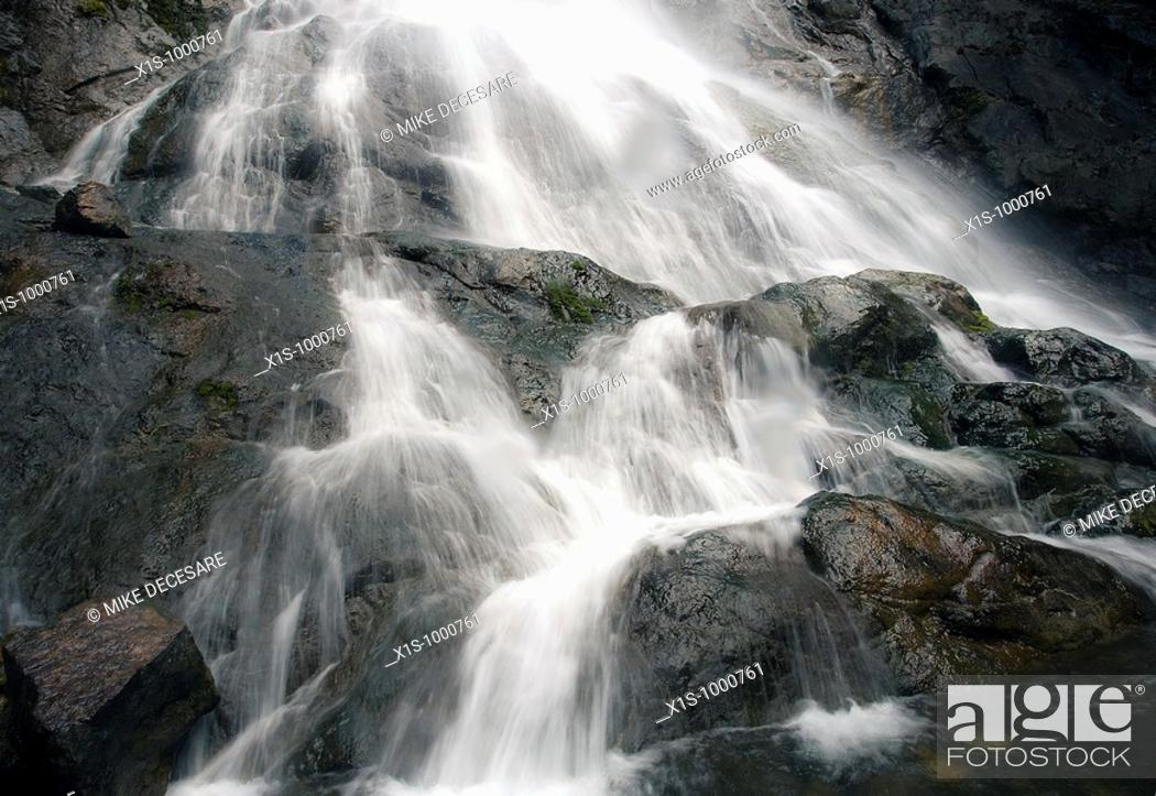 Stock Photo: One of the majestic waterfalls of the Olympic Peninsula.
