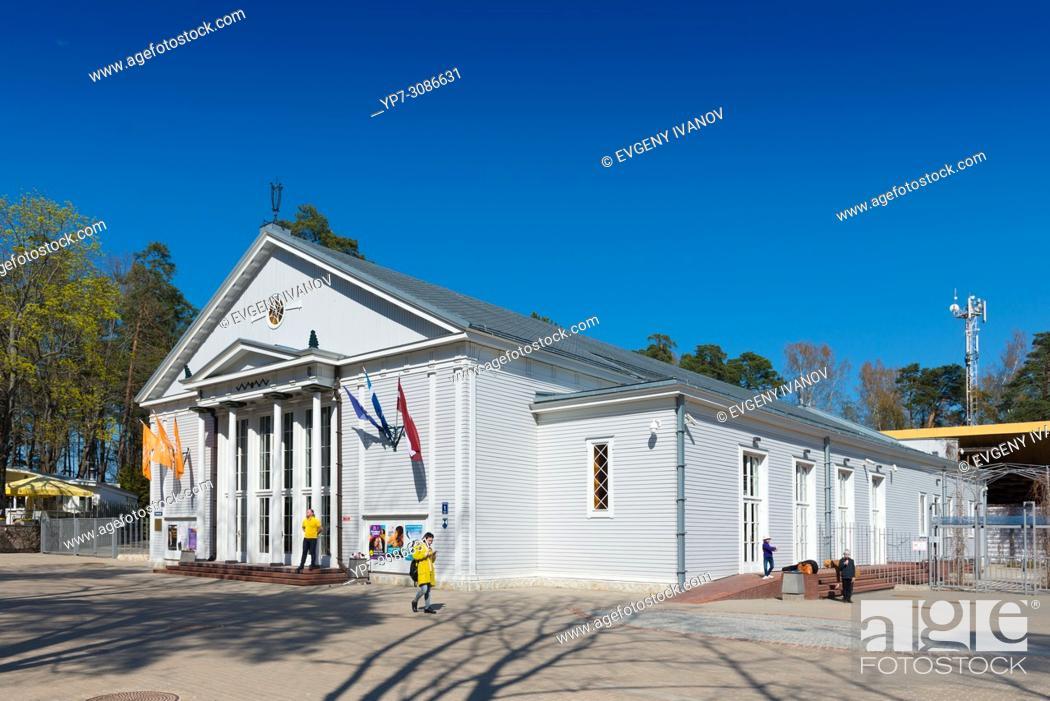 Stock Photo: Dzintari concert hall, Jurmala, Latvia.