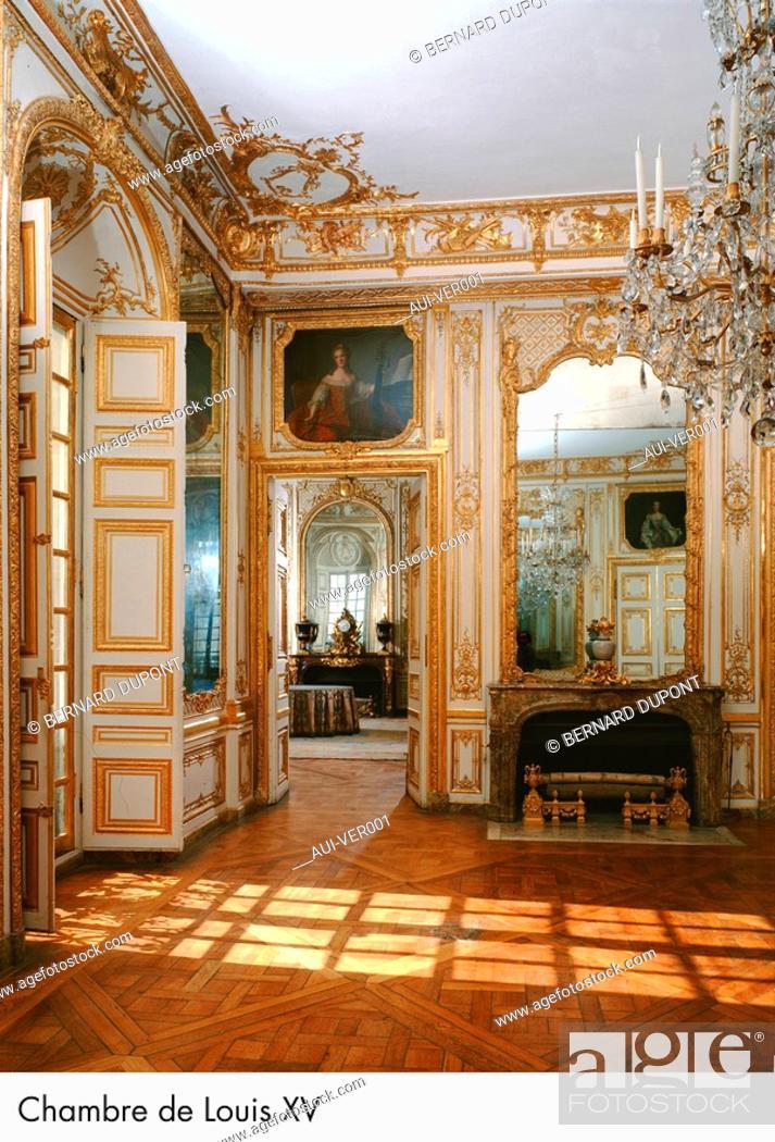 Stock Photo: Palace of Versailles - Chambre de Louis XV.