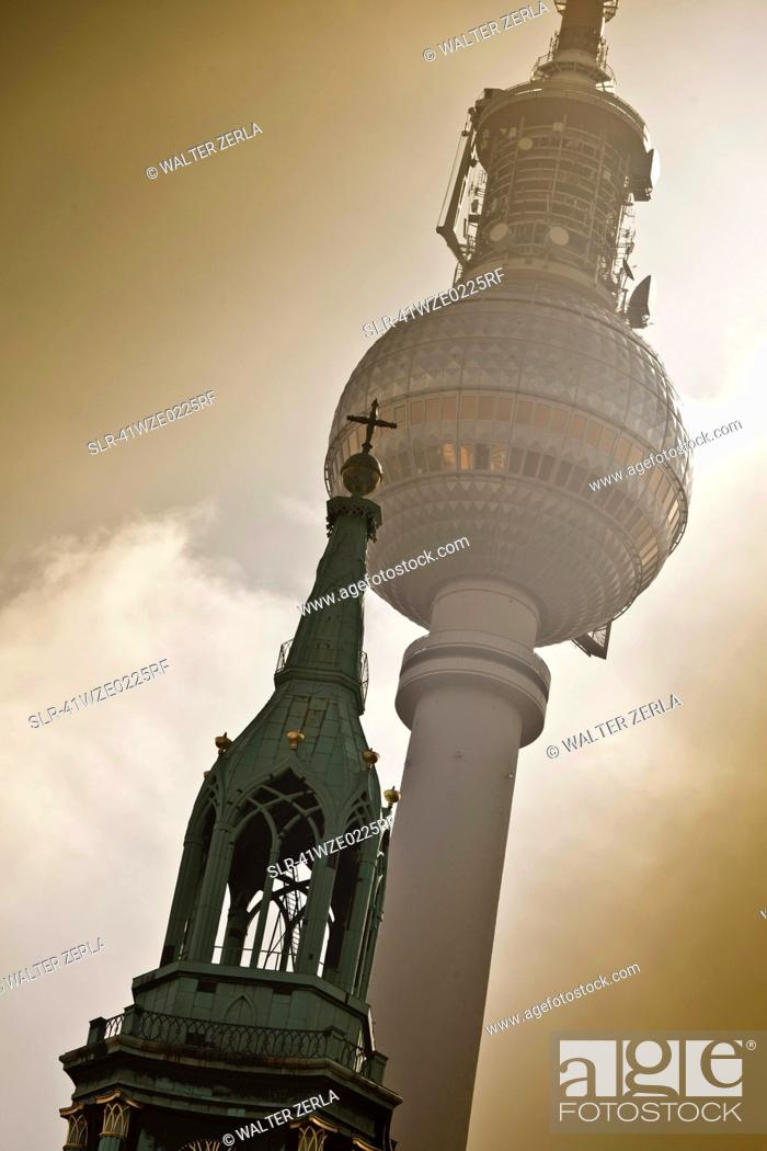 Stock Photo: Low angle view of towers.
