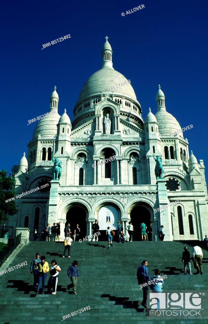 Stock Photo: Sacre Coeur, France, Paris.