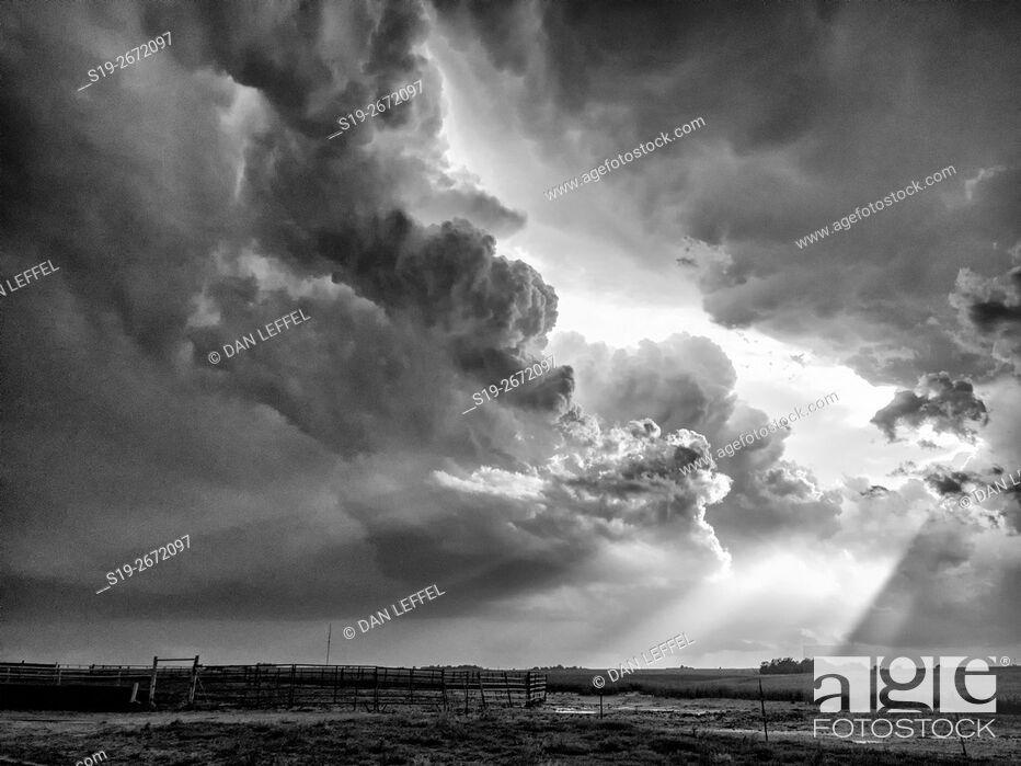 Stock Photo: Tornado Near Dodge City Kansas.