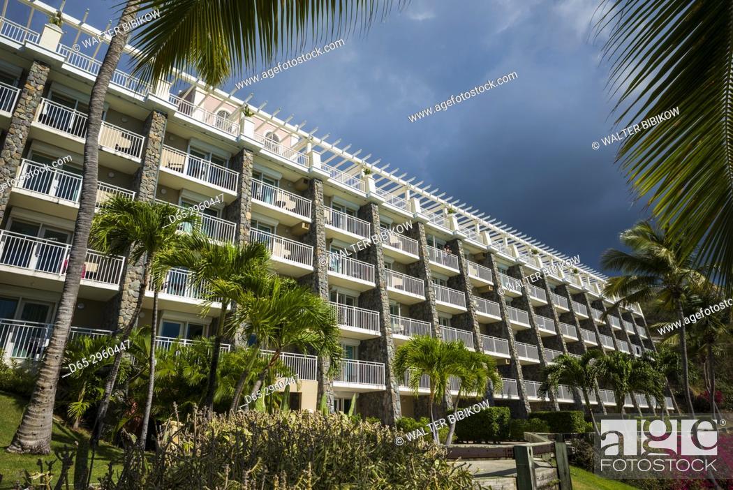 Stock Photo - U. S. Virgin Islands, St. Thomas, Morningstar Bay, Marriott  Morningstar Beach Resort.