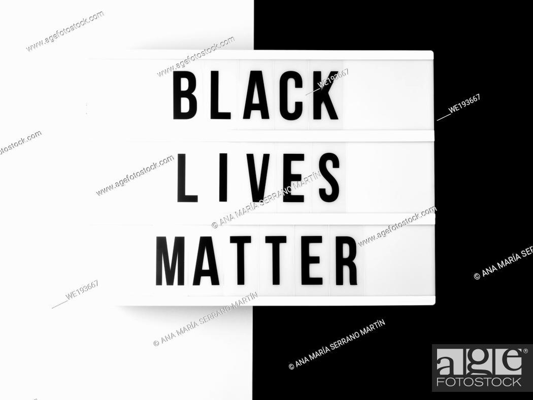 Imagen: Black lives matter concept.