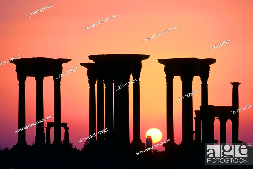 Stock Photo: Syria Palmyra ruins.