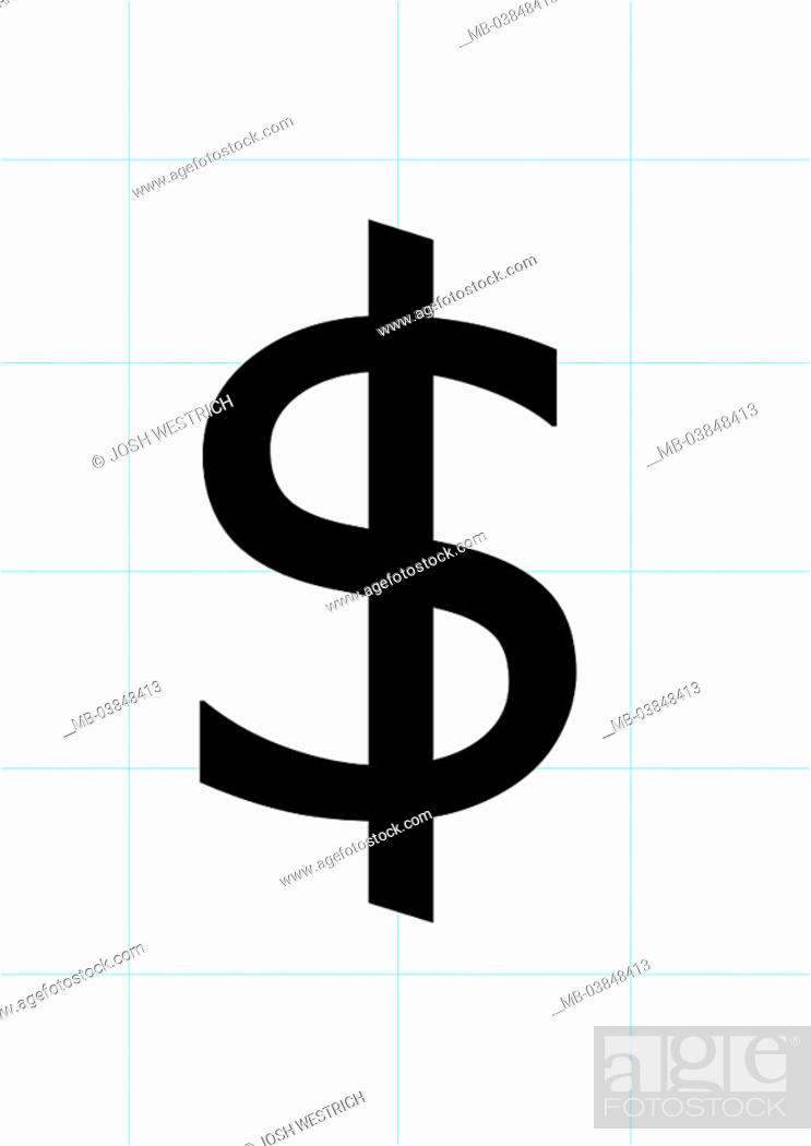 Stock Photo Screens Blue Dollar Signs Black Usa Monetary Symbol Currency Line Net Lines Economy Finances