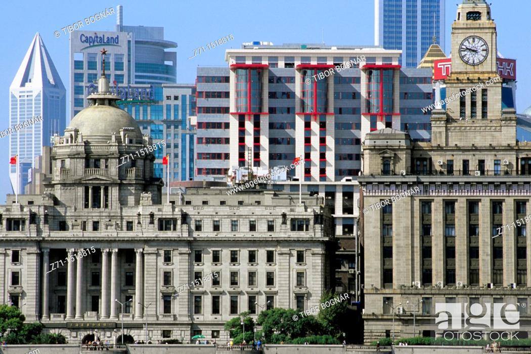 Stock Photo: The Bund skyline, Shanghai, China.