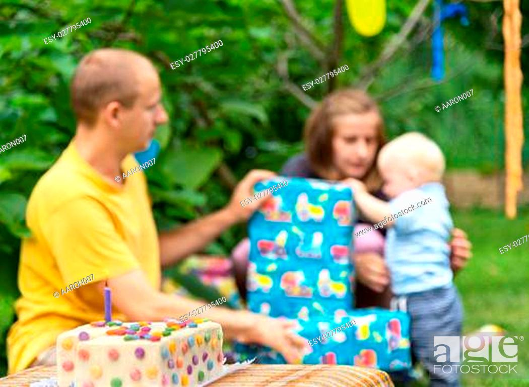 Stock Photo: babys birthday.