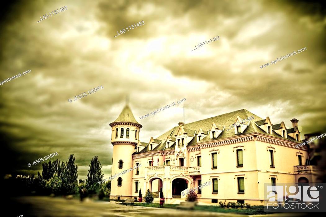 Stock Photo: Castle in San José de Valderas, Alcorcon, Madrid.