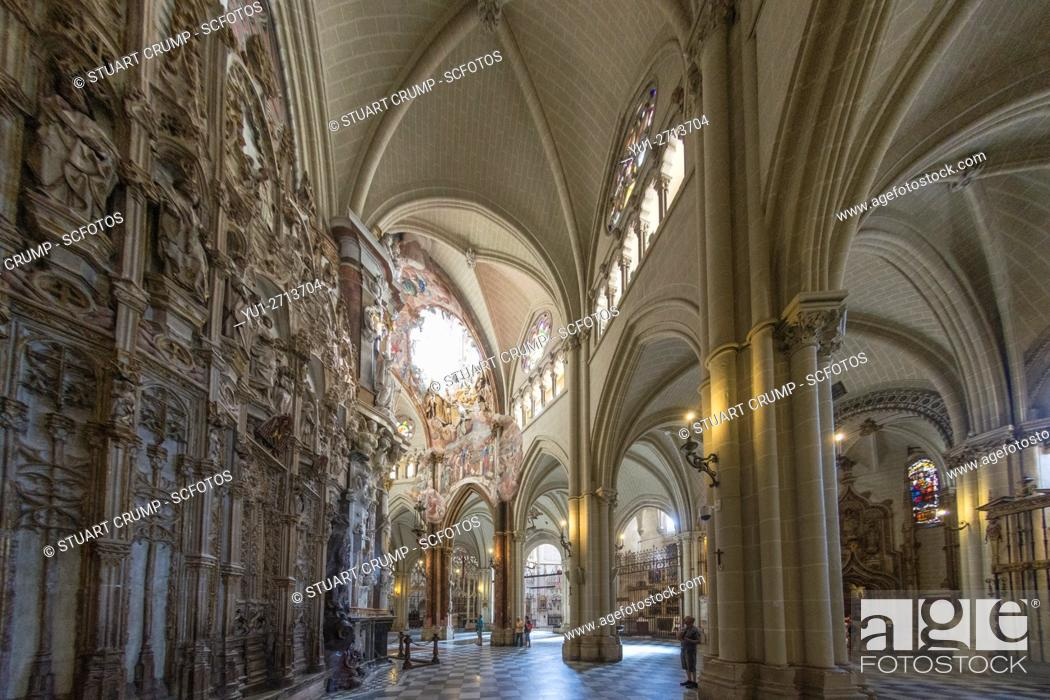 Stock Photo: Interior of The Primate Cathedral of Saint Mary of Toledo.