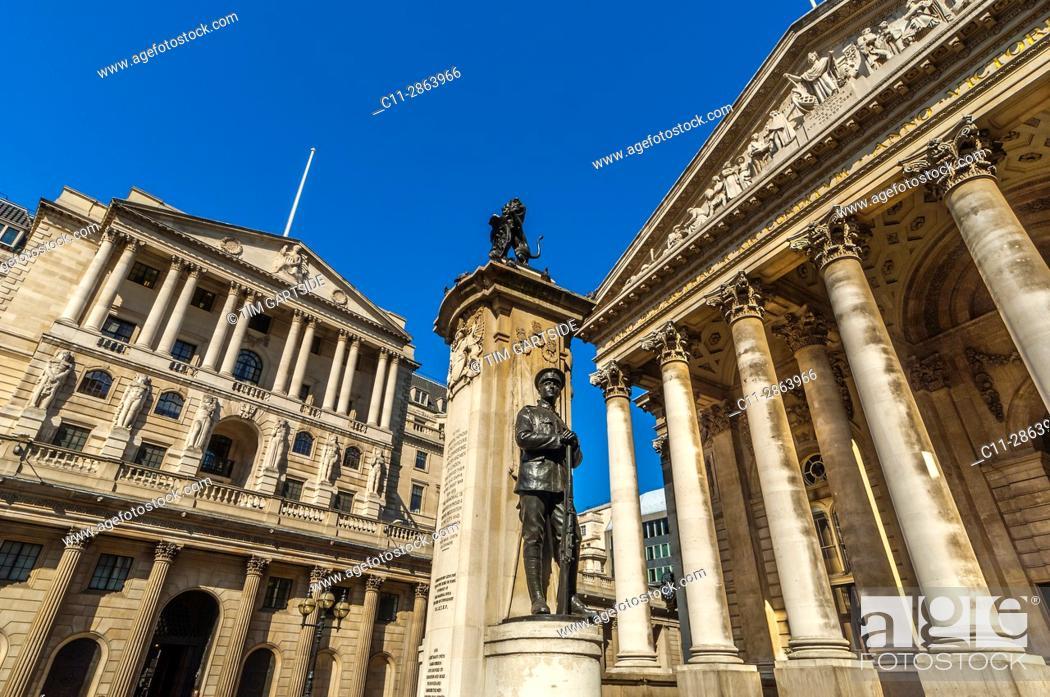 Stock Photo: bank of england, corn exchange, london, england, uk, .