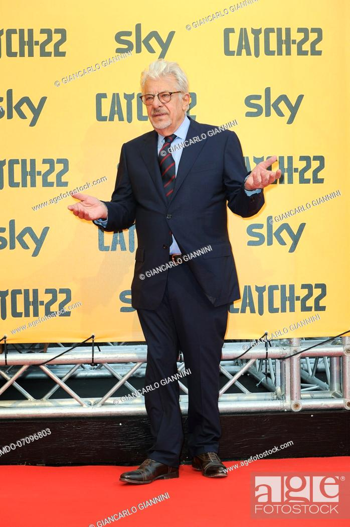 Stock Photo: Italian actor and director Giancarlo Giannini attends the premiere of the Sky TV serie Catch-22. Rome (Italy), May 13th, 2019.