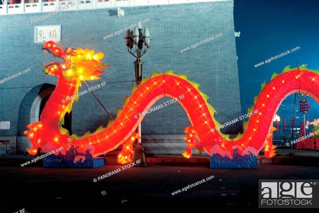 Stock Photo: Chinese dragon lantern.