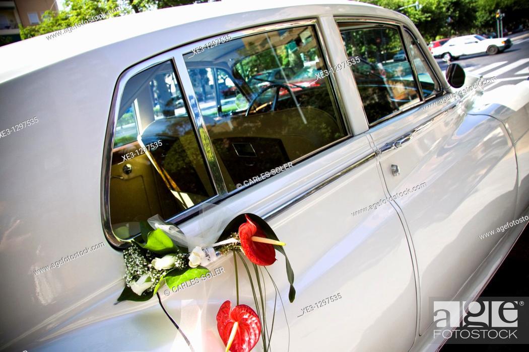 Stock Photo: Wedding car.
