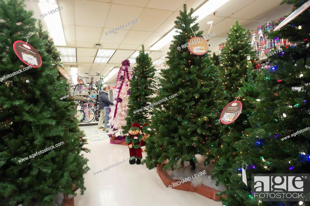 Seasonal Christmas display in a KMart store in New York Because of ...