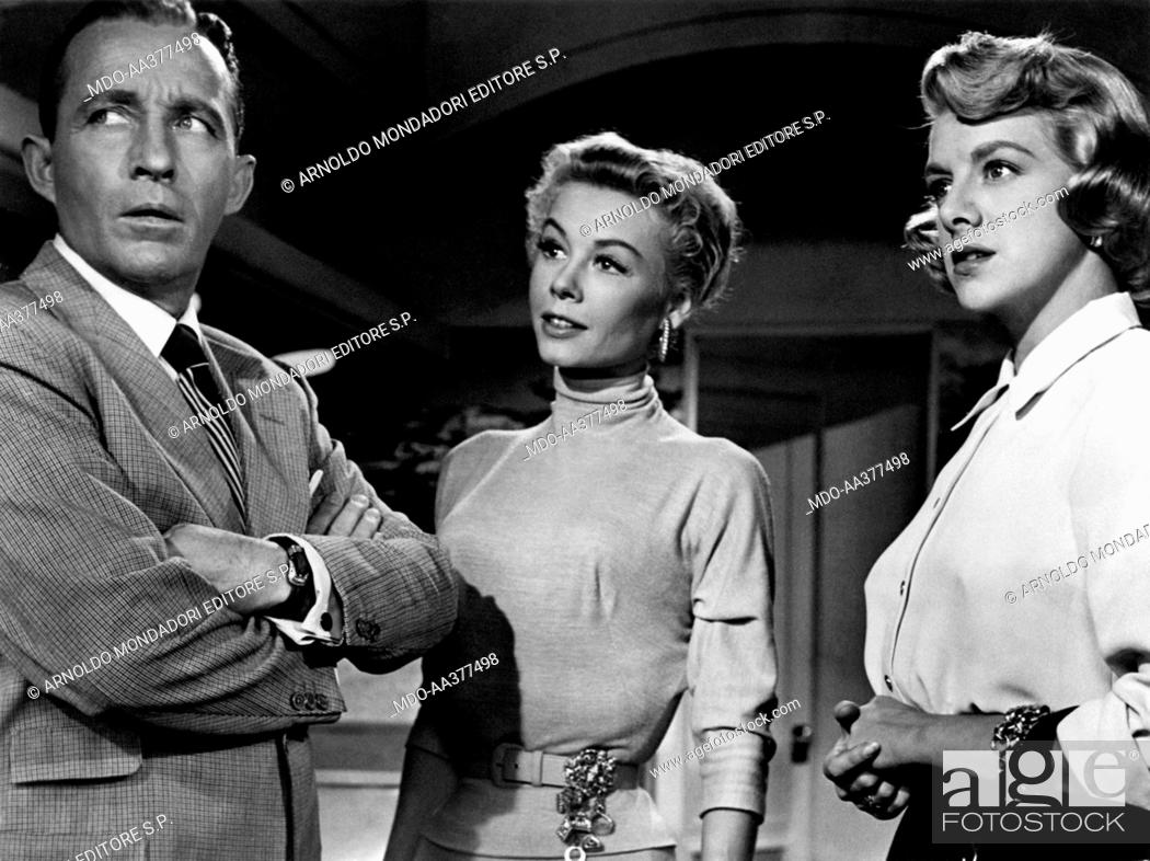 stock photo vera ellen bing crosby and rosemary clooney in white christmas - How Old Was Bing Crosby In White Christmas