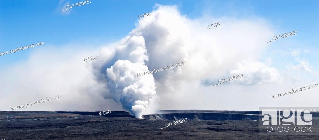 Stock Photo: Hawaii Volcanoes Nat  Park Big Island, Hawaii  USA.