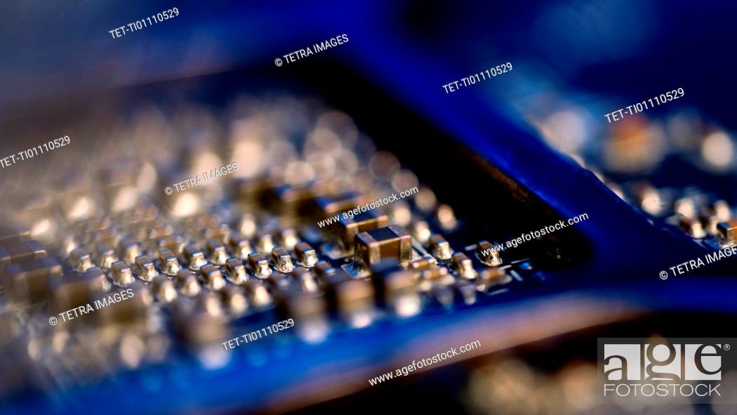 Stock Photo: Close-up of circuit board.