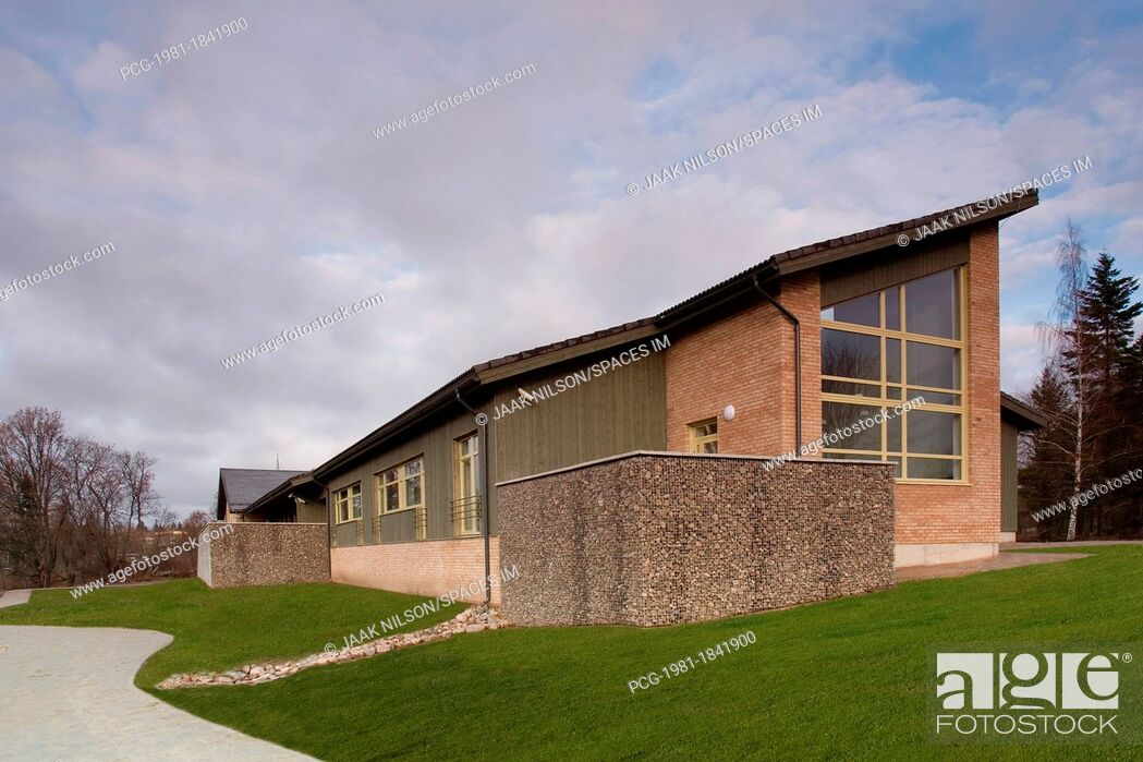 Stock Photo: Modern Nursing Home Exterior.