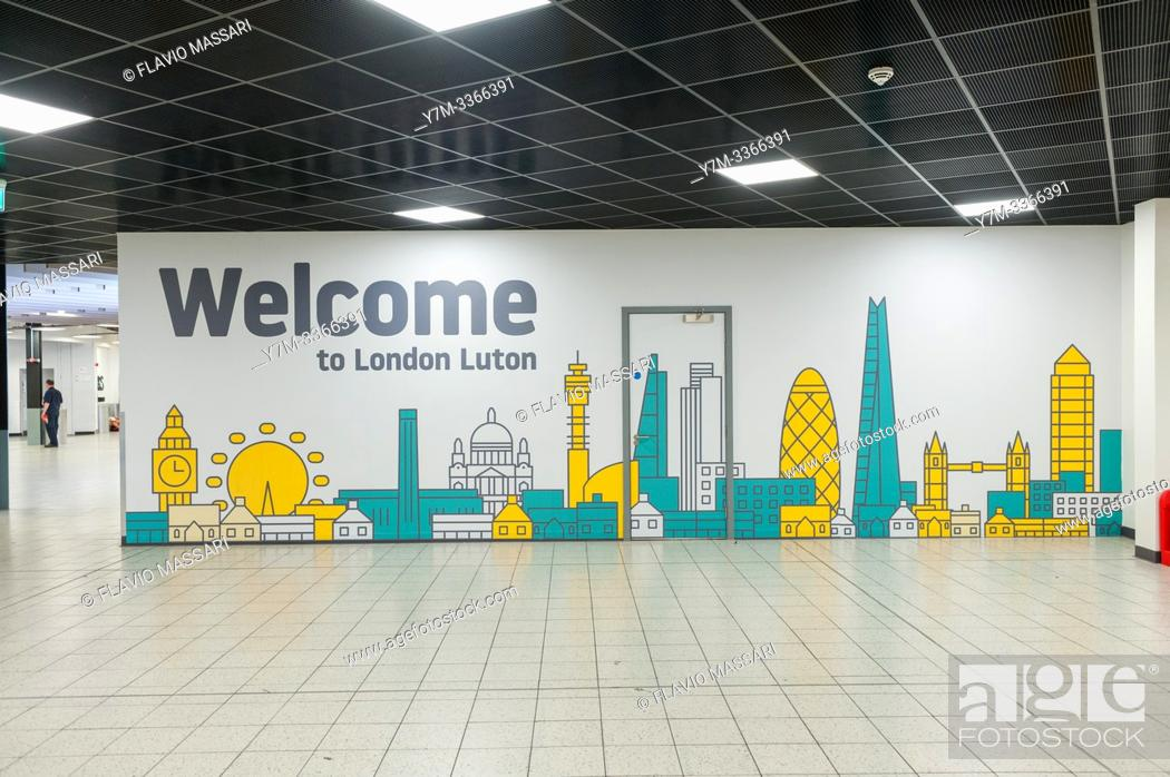 Stock Photo: London Luton Airport Terminal.