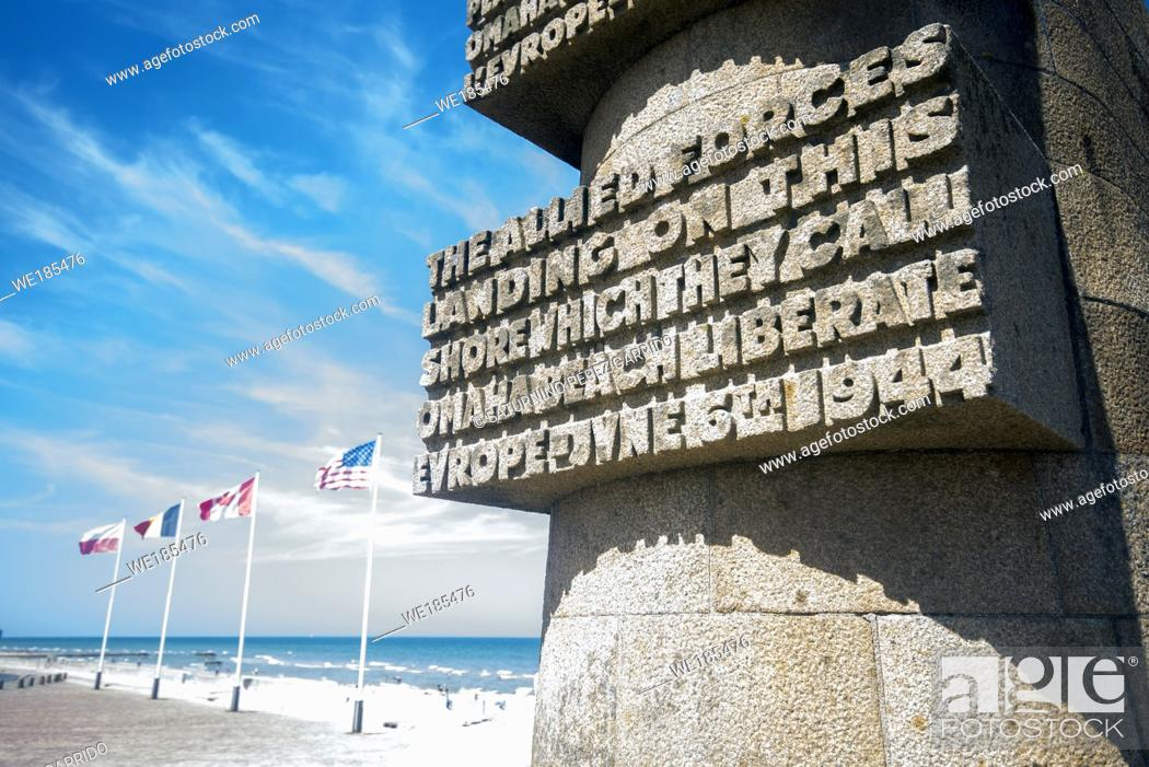 Stock Photo: Monument on the Normandy landing beaches, in honor of the deceased.