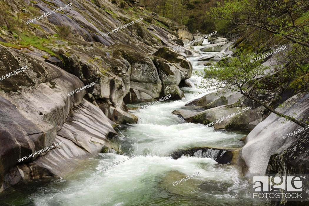 Stock Photo: Los Pilones, reserva natural Garganta de los Infiernos, sierra de Tormantos, valle del Jerte, Cáceres, Extremadura, Spain, europa.