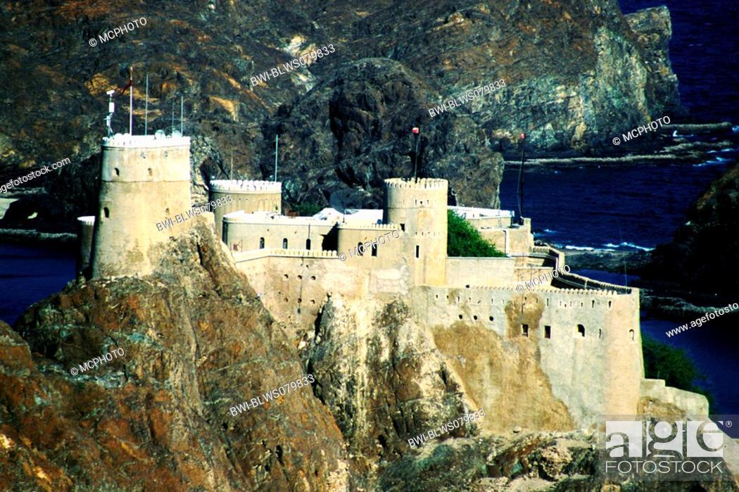 castle of Muscat the Omani capital, Oman, Muscat, Stock