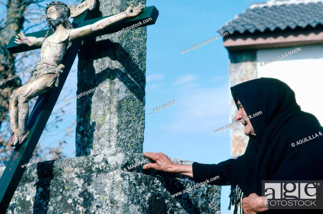 Stock Photo: Holy Week. Bercianos de Aliste. Zamora province. Spain.