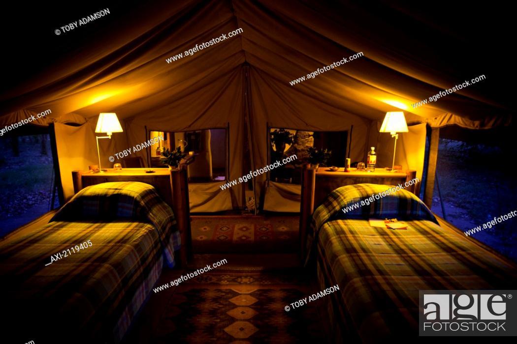 Mathews Mountain Range Kenya Kitich Safari Camp Stock Photo