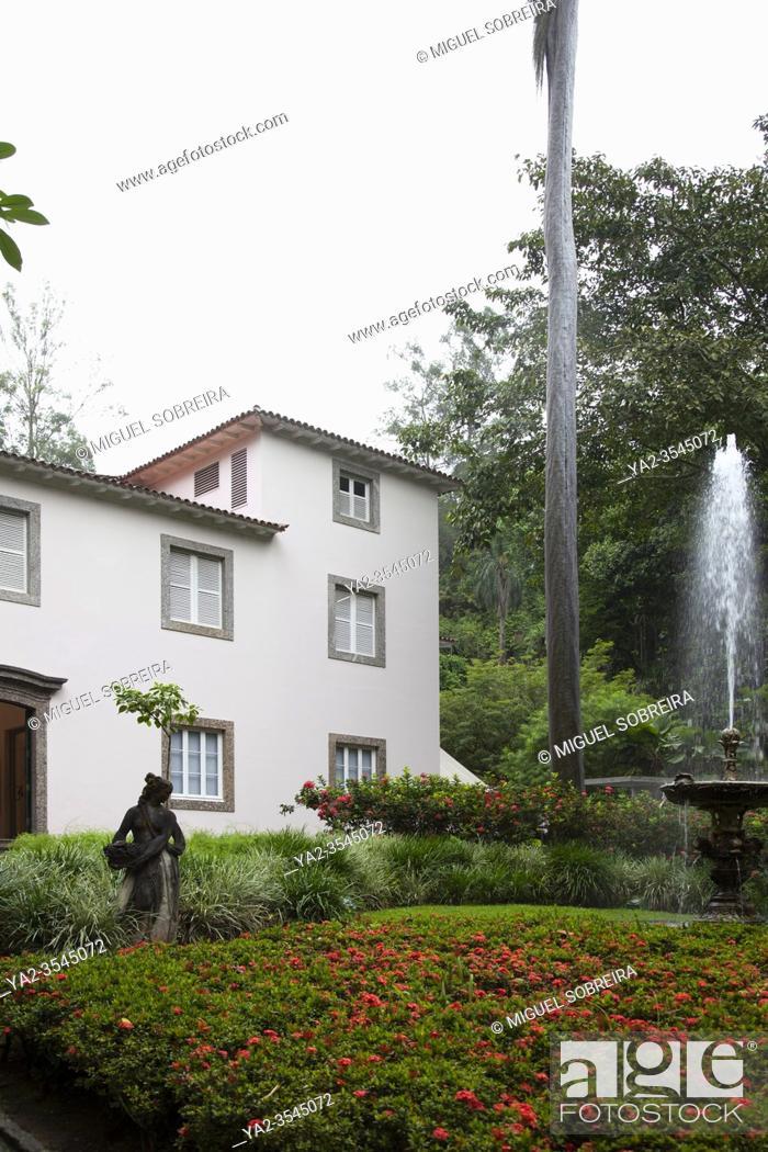 Stock Photo: Casa Roberto Marinho Art Gallery in Cosme Velho in Rio, Brazil.