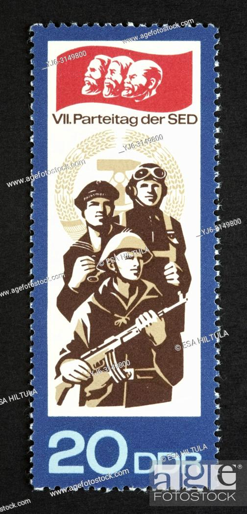 Stock Photo: DDR postage stamp.
