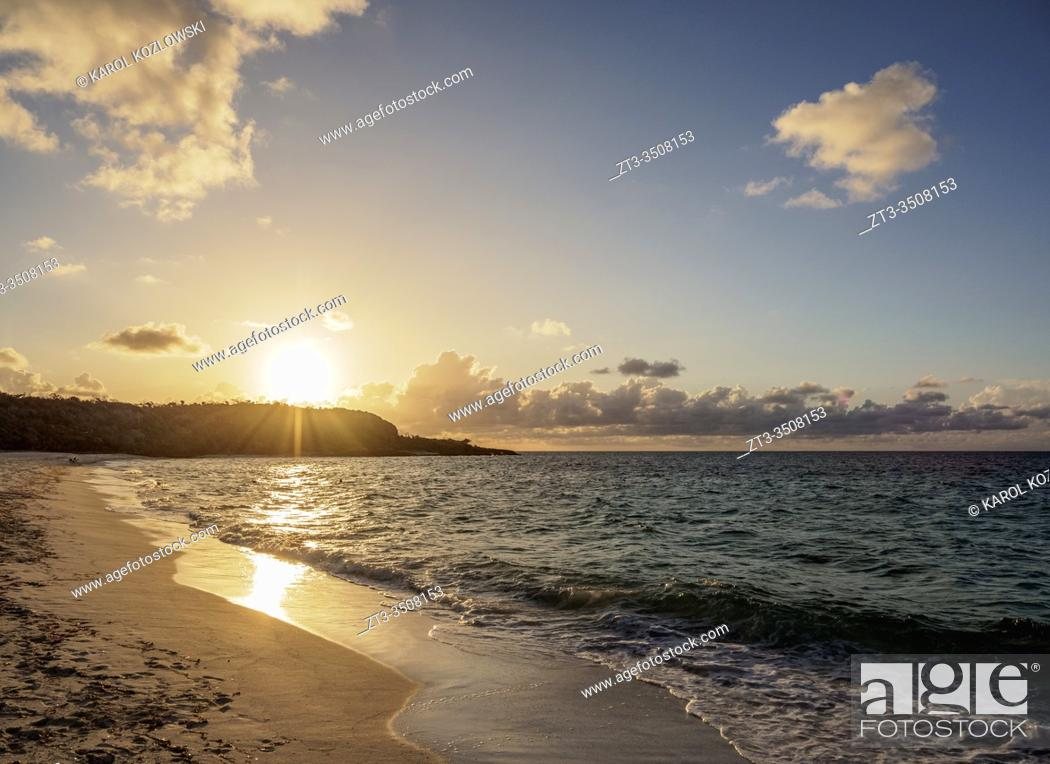 Stock Photo: Playa Esmeralda at sunset, Holguin Province, Cuba.