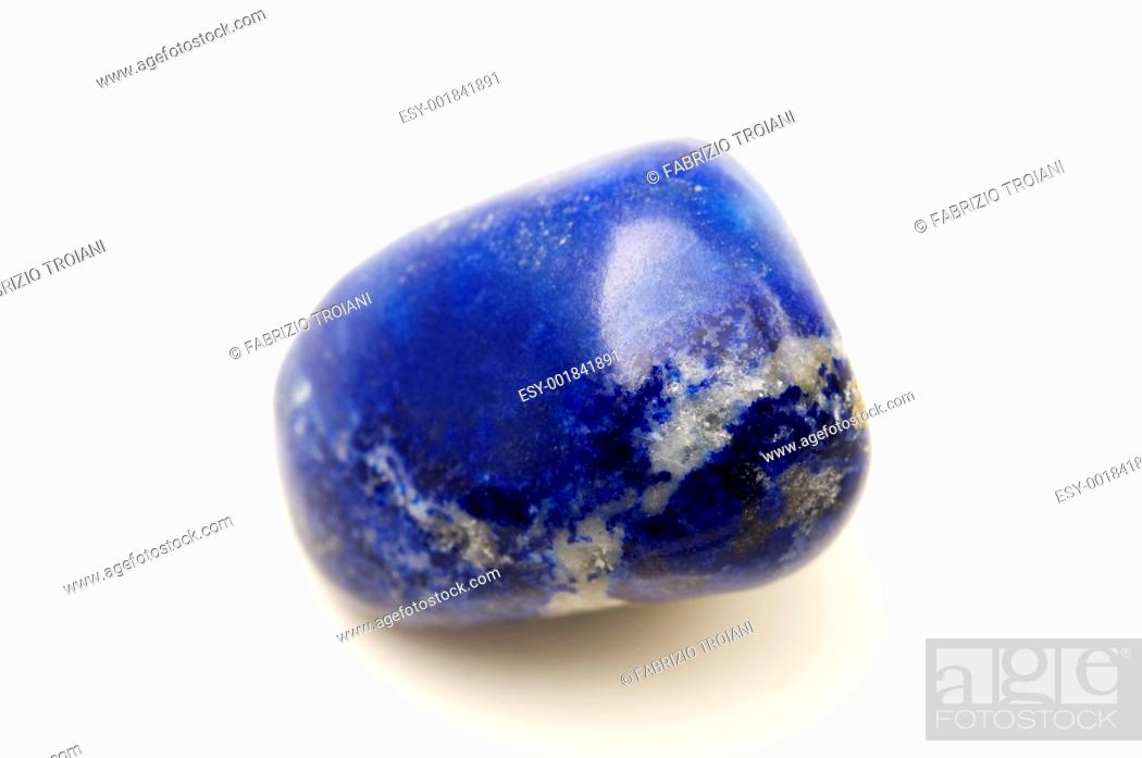 Stock Photo: Lapis lazuli on a white background.